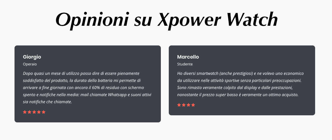 opinioni su Xpower Watch