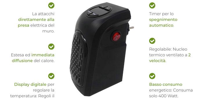 handy heater pro caratteristiche